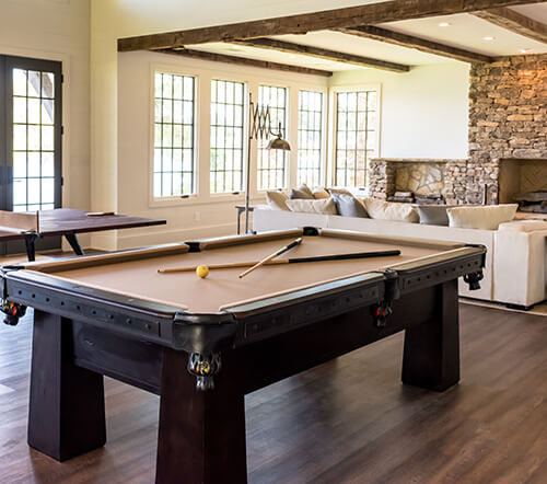 Pool Table in Home